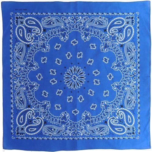 Бандана Пейсли (синяя)